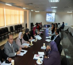 الحضور اثناءاجتماع اللجنة التيسيرية العليا لاستراتيجية العنف ضد المرأة