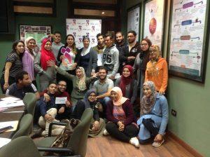 المتطوعين من جامعة القاهرة